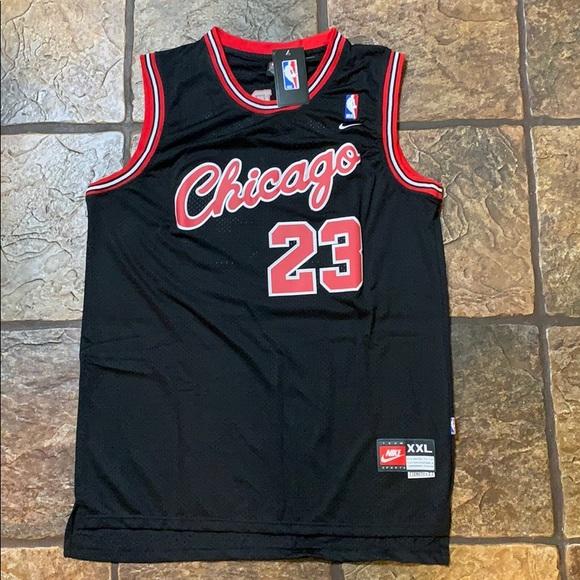 size 40 e1349 54717 Micheal Jordan- Rare Black Script Bulls Jersey NWT